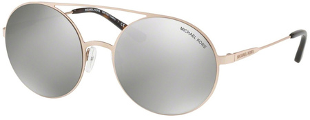 Michael Kors Cabo Sunglasses Rose Gold-Tone, Silver Mirror