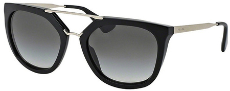 Prada PR 13QS Sunglasses Black, Grey Gradient Lenses