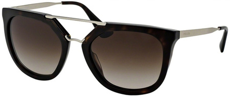 Prada PR 13QS Sunglasses Havana, Brown Gradient Lenses