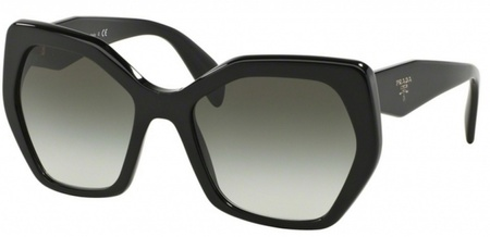 Prada PR 16RSF Sunglasses Black, Grey Gradient Lenses