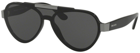Prada PR 01US Sunglasses Black, Grey Lenses