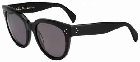 Celine Audrey Large Black with Grey Polarised Lenses