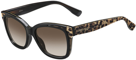 Jimmy Choo Bebi Sunglasses Animal Black, Brown Gradient Lenses