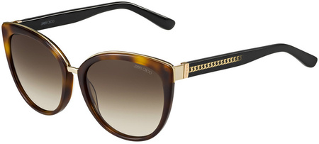 Jimmy Choo Dana Sunglasses Havana, Brown Gradient Lenses