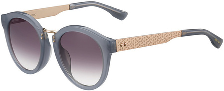 Jimmy Choo Pepy Sunglasses Grey and Gold, Mauve Lenses