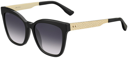 Jimmy Choo Junia Sunglasses Black and Gold, Dark Grey Gradient
