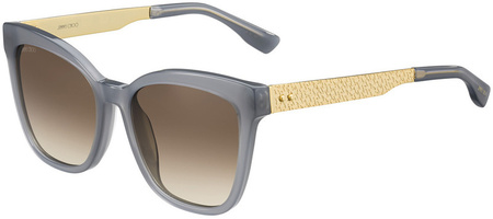 Jimmy Choo Junia Sunglasses Grey and Gold, Brown Gradient