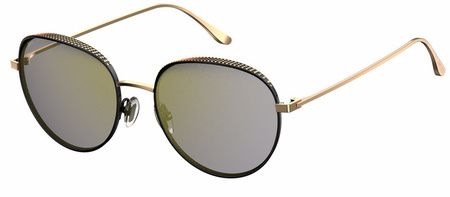 Jimmy Choo Ello Sunglasses Black and Copper, Grey Mirror Lenses