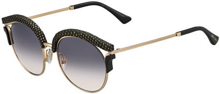 Jimmy Choo Lash Sunglasses Black and Gold, Dark Grey Gradient