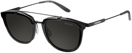 Carrera Sunnies 127/S Shiny Black and Matte Black, Grey Lenses