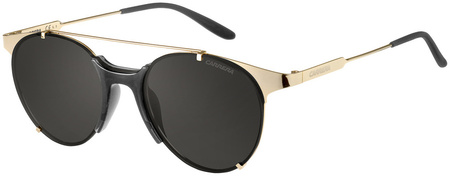 Carrera Sunnies 128/S Black and Gold, Grey Lenses