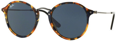 Ray Ban 2447 Sunglasses Spotted Blue Havana, Blue Glass