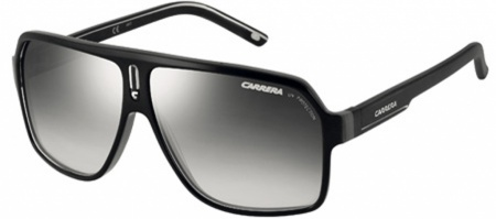 Carrera Eyewear 27 Black, Grey & Crystal, Grey Silver Mirrored Lenses