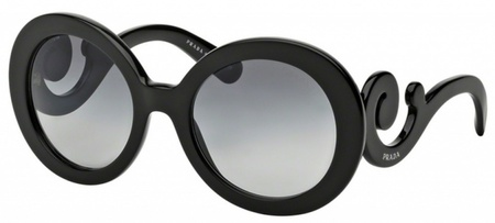 Prada Sunglasses PR27NS Black, Grey Gradient Lenses