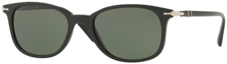 Persol 3183S Sunglasses Black, Green Lenses
