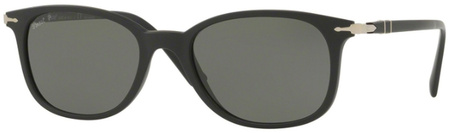 Persol 3183S Sunglasses Matte Black, Green Polarised Lenses