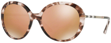 Burberry BE4239Q Pink Havana, Brown Rose Gold Mirror