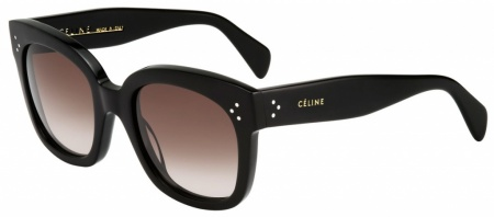 Celine New Audrey Sunglasses Black with Brown Gradient Lenses