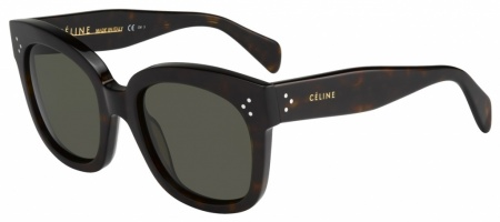 Celine New Audry Sunglasses Dark Havana Brown Gradient