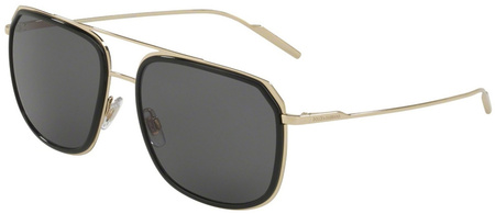 Dolce & Gabbana 2165 Black, Pale Gold, Grey Polarised Sunnies