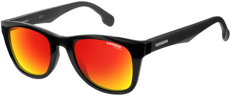 Carrera Sunnies 5038/S Black, Red Mirror Lenses