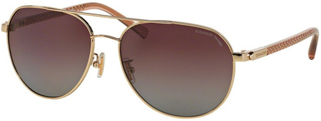 Coach Sunglasses 7053 Light Gold Crystal Cherry, Burgundy Gradient Polarised