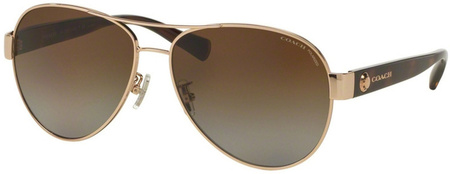 Coach Sunglasses 7063 Light Gold Dark Tort, Brown Gradient Polarised