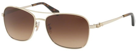 Coach Sunglasses 7080 Light Gold, Brown Gradient Lenses