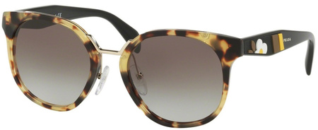 Prada PR 17TS Sunglasses Medium Havana, Grey Lenses