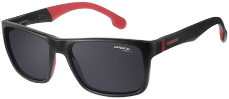 Carrera Sunnies 8024/LS Matte Black, Grey Lenses