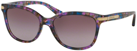 Coach Sunglasses 8132 Confetti Purple, Purple Gradient Lenses