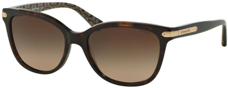 Coach Sunglasses 8132 Dark Tort, Brown Gradient Lenses