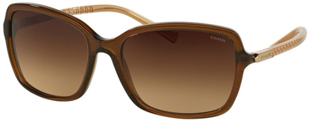 Coach Sunglasses 8152 Brown Glitter Crystal Brown, Brown Gradient