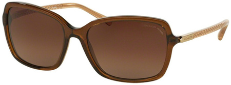 Coach Sunglasses 8152 Brown Glitter Crystal Brown, Brown Gradient Polarised