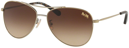 Coach Sunglasses 7079 Light Gold, Brown Gradient Lenses