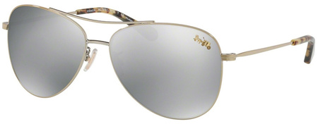 Coach Sunglasses 7079 Light Gold, Silver Mirror Polarised