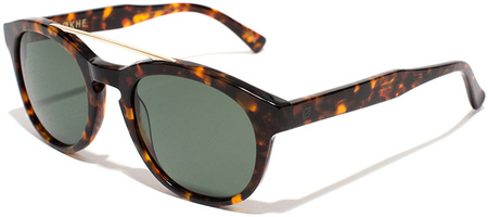 Epokhe Sunglasses Anteka Gloss Tortoise, Green Polarised