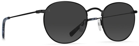 Raen Benson 51 Sunglasses Black Ripple. Smoke Lenses