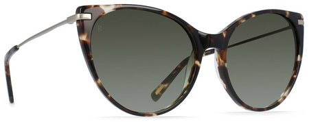 aen Birch Sunglasses Brindle Tort & Japanese Gold, Green Lenses