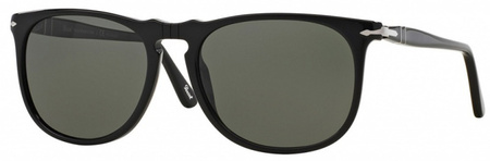 Persol 3113S Sunglasses Black, Green Polarised Lenses