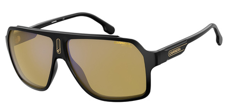 Black/Yellow with Blue Flash Mirror Lenses