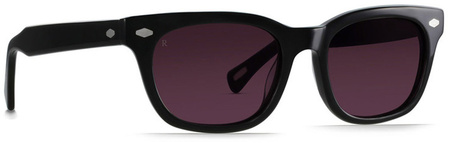 Raen Loro Sunglasses Black, Dark Rose Lenses