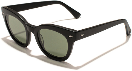 Epokhe Sunglasses Dylan Zero Gloss Black, Zero Green Lenses