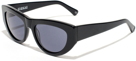 Epokhe Sunglasses Candy Gloss Black, Black Lenses