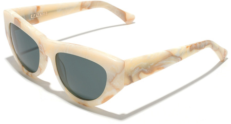 Epokhe Sunglasses Candy Marble White, Green Lenses