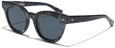 Epokhe Sunglasses Dylan Zero Polished Black Marble, Black Lenses