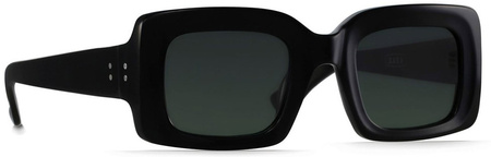 Raen Flatscreen Sunglasses Black, Green Lenses