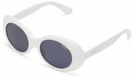 Quay Sunglasses Frivolous White, Smoke Lenses