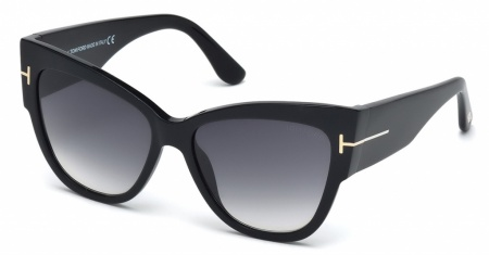 Tom Ford Sunglasses 371 Shiny Black Grey Lenses