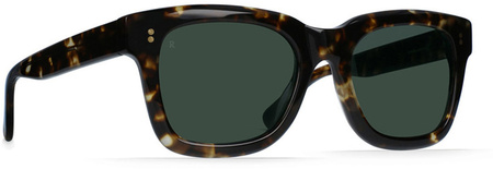 Raen Gilman Sunglasses Brindle Tort, Green Lenses